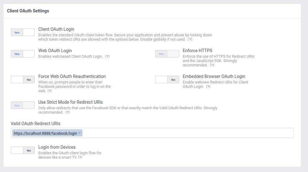 Match login with facebook